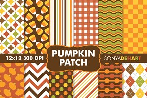 Pumpkin Patch Fall Digital Papers