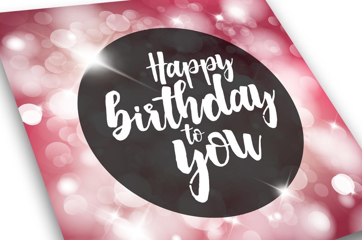 Happy Birthday Card Template ~ Card Templates ~ Creative ...