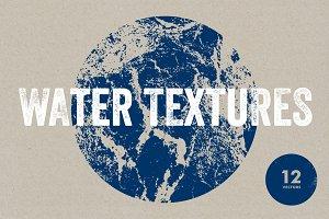 Water Textures - 12 Vectors & PNGs