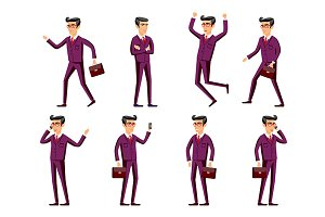 businessman in a maroon suit. poses