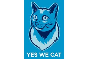 Yes We Cat Poster.