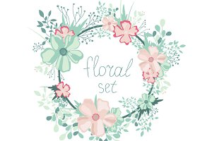 Floral set for decor