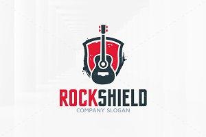 Rock Shield Logo Template