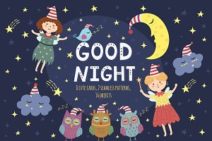 Good Night Vol. 1: patterns & cards