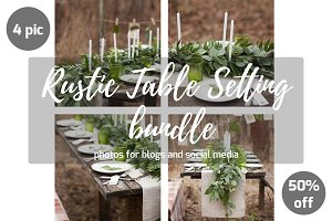 Rustic table setting Bundle