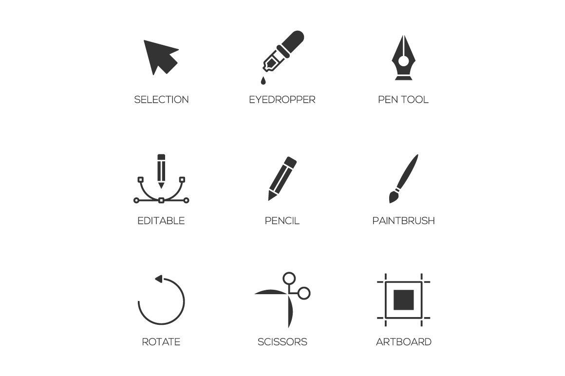Graphic designer tools icons ~ Icons ~ Creative Market