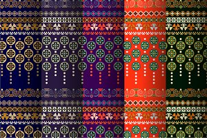 5 Indian Seamless Patterns