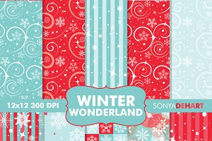 Winter Wonderland Digital Papers