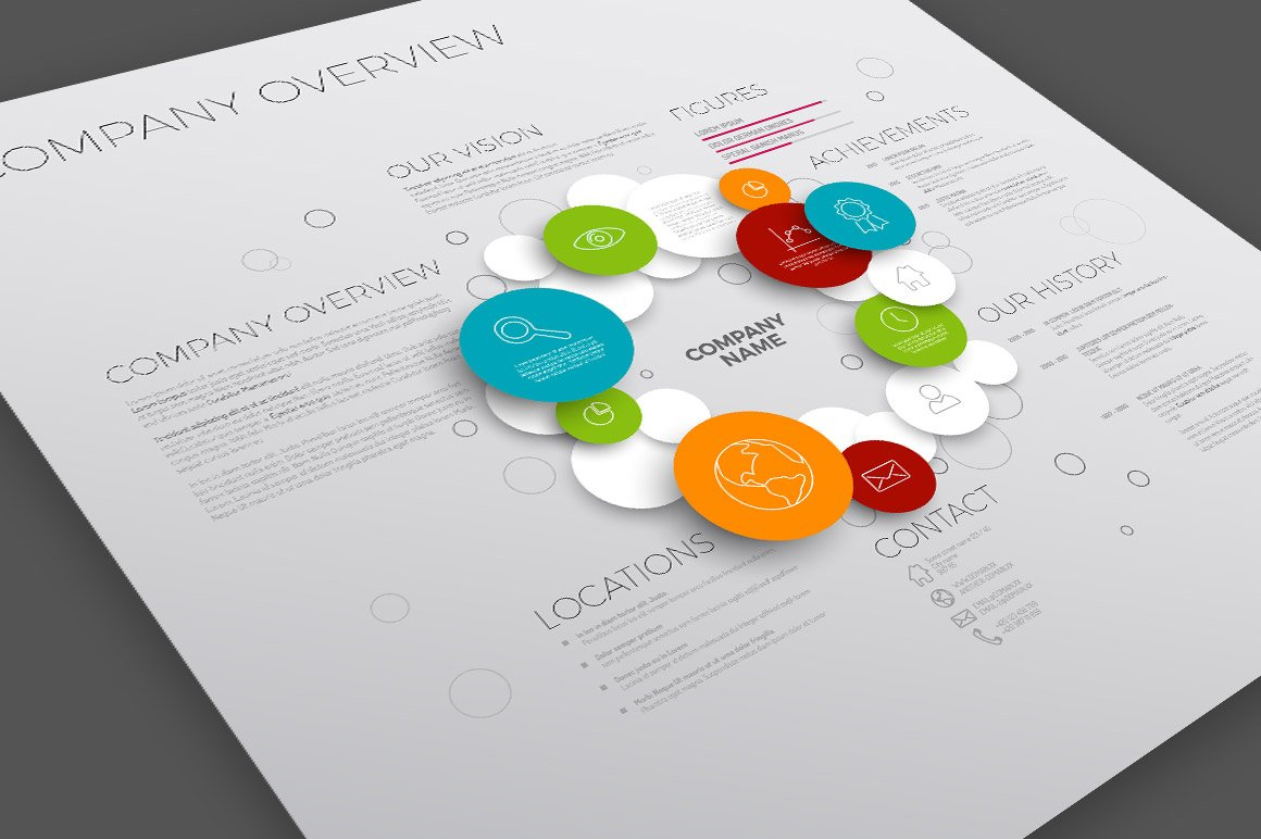 Company Overview Template ~ Templates ~ Creative Market