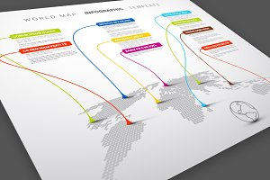 World Map Infographics Template