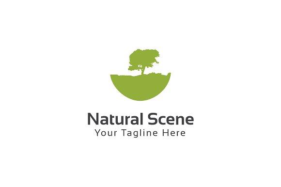 natural scene logo template logo templates creative market