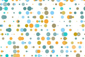 Retro pattern with colorful dots