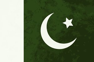 True proportions Pakistan flag