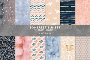 Somerset Sunset Gold & Watercolors