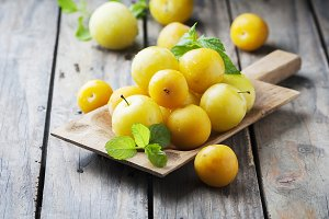 Sweet yellow plums