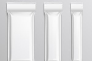Stick plastic packs vector set