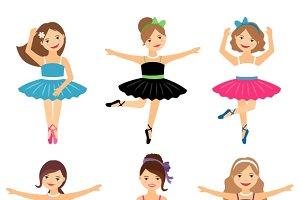 Little ballerina girls set