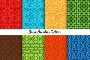 Colored traditional arabic patterns
