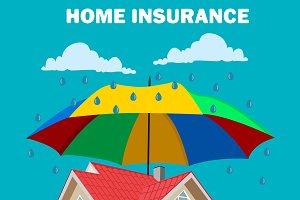home insurance concept, design