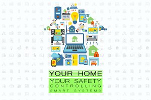 Smart home technologies flat set