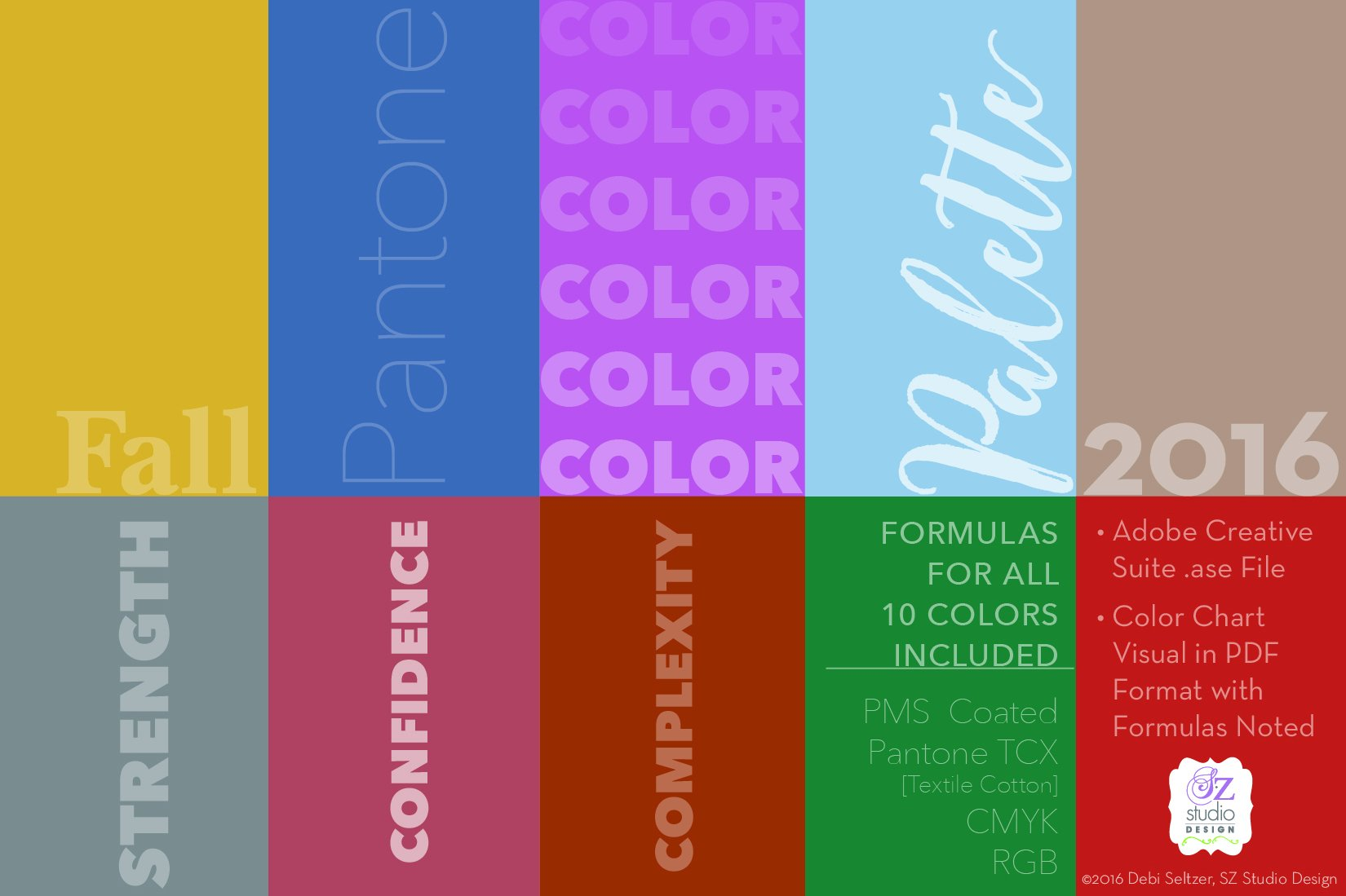 Pantone Fall 2016 Color Palette Color Palettes Creative Market