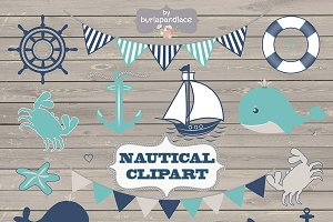 Nautical clipart wood