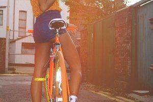The orange Bike