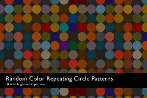 Random Color Circle Patterns