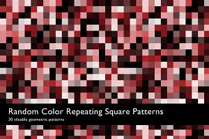 Random Color Square Patterns