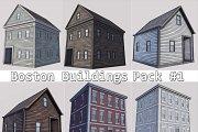 Boston Buildings Pack 01