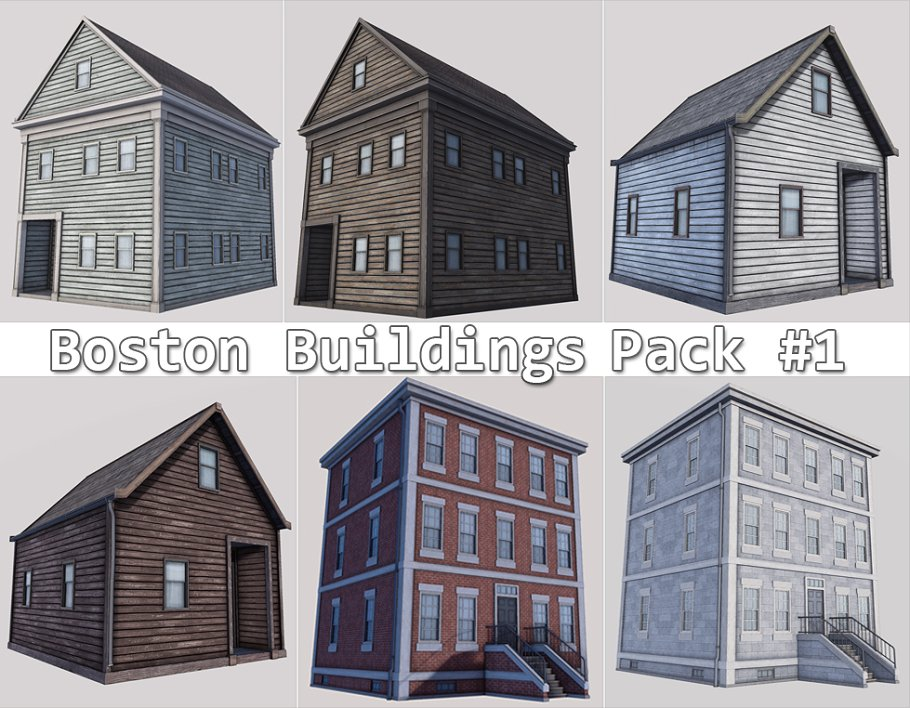 Boston Buildings Pack 01