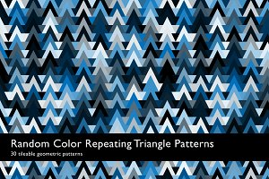 Random Color Triangle Patterns