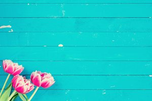 Floral background vintage style