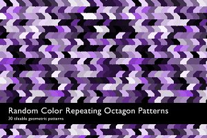 Random Color Octagon Patterns
