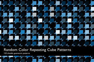 Random Color Cube Patterns