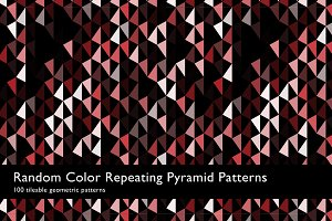 Random Color Pyramid Patterns