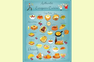 European Cuisine Menu