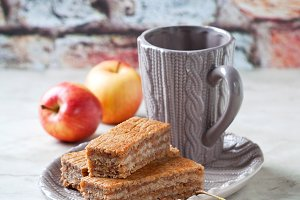 Homemade apple cinnamon cake