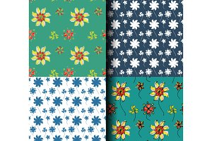 Seamless pattern flower background