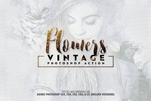 Flowers Vintage Photoshop Action