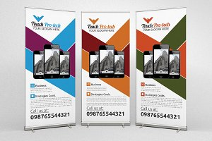Mobile App Business Roll Up Banners