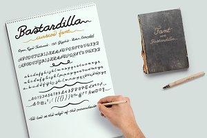 Bastardilla -cursive font-