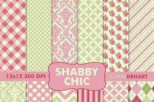Shabby Chic Digital Paper Patterns
