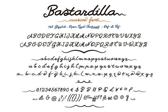 Bastardilla Cursive Font Script Fonts Creative Market