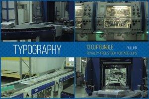 Typography: 13 Clip Footage Bundle