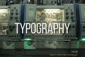Typography: Footage Video Clip