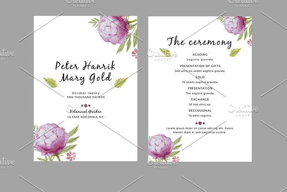Wedding Fan Program Template Invitation Templates Creative Market - Wedding fan program template