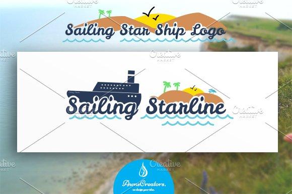 Sailing Star Ship Logo - Logos