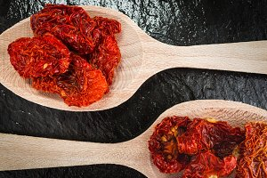 Dried tomatoes,cooking ingredients