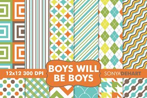 Boys Will Be Boys Digital Papers